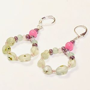 Genuine Prehnite Springtime Earrings